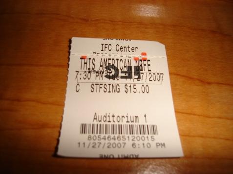 TicketStub