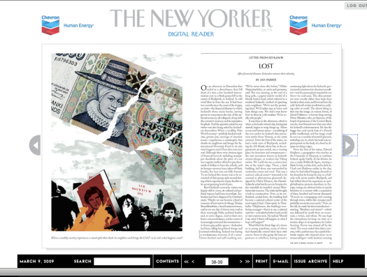 The New Yorker Digital Reader Means Business